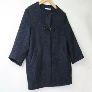 Sessun forty five blue mohair wool coat S